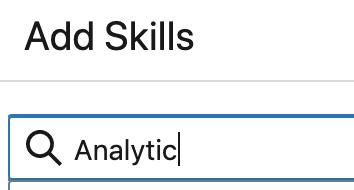 LinkedIn Skill Entry