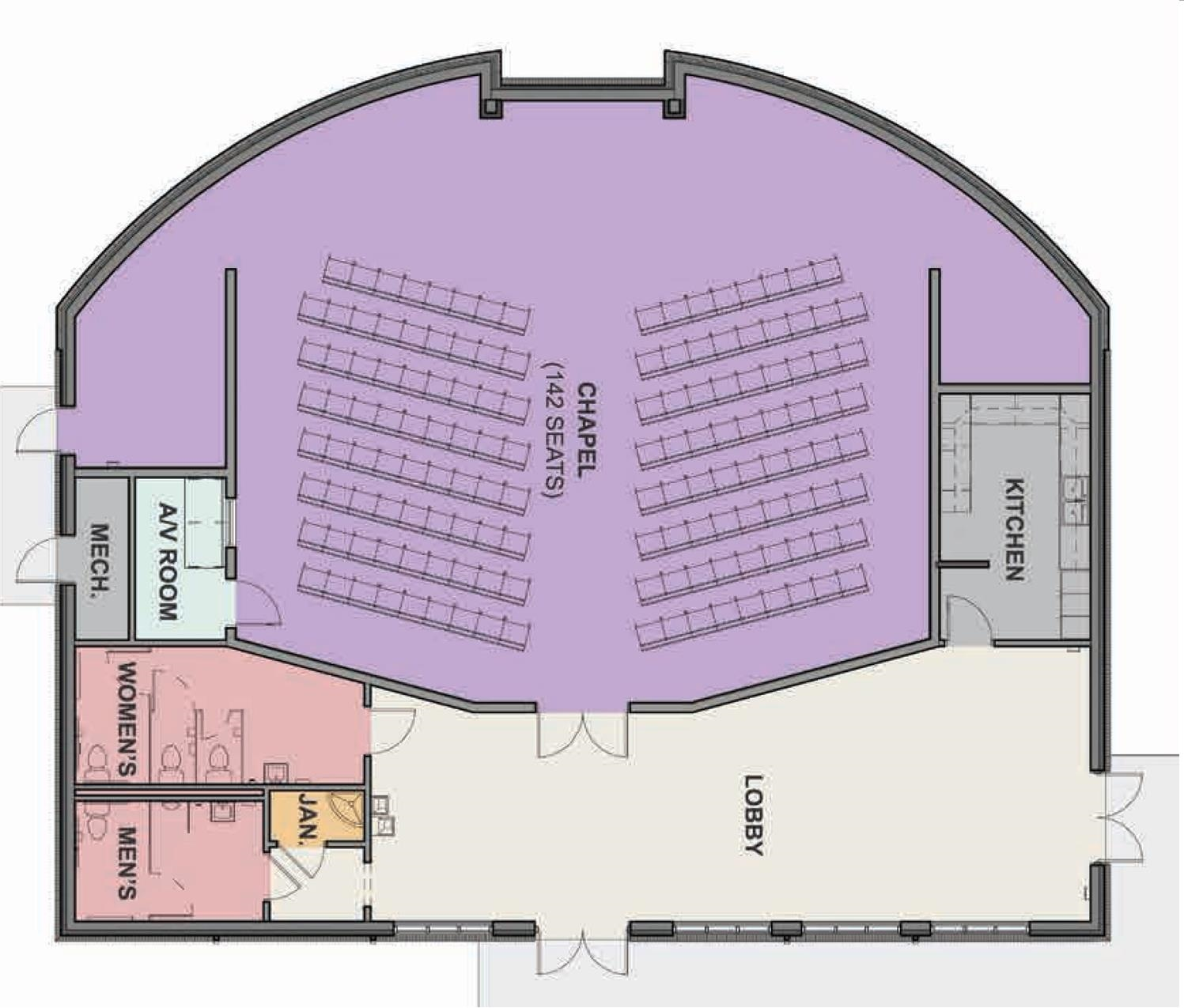 Plans for new secondary chapel (the Bradford Chapel)