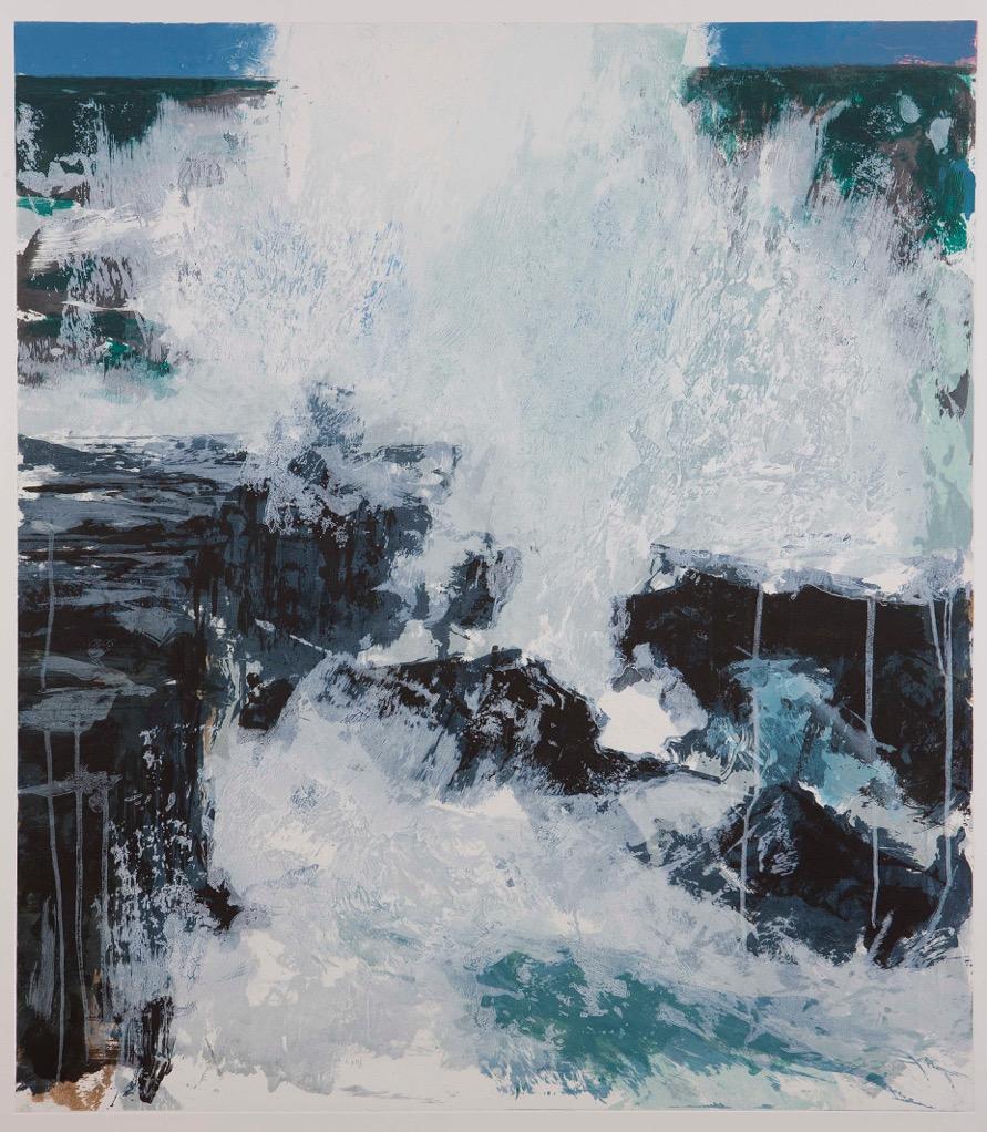 "Artist: Donald Teskey  Title: Sufflo  Year: 2017  Sheet size: 44 x 51"" inches  Edition: 40  Medium: Carborundum print on Somerset 410 gsm satin paper."