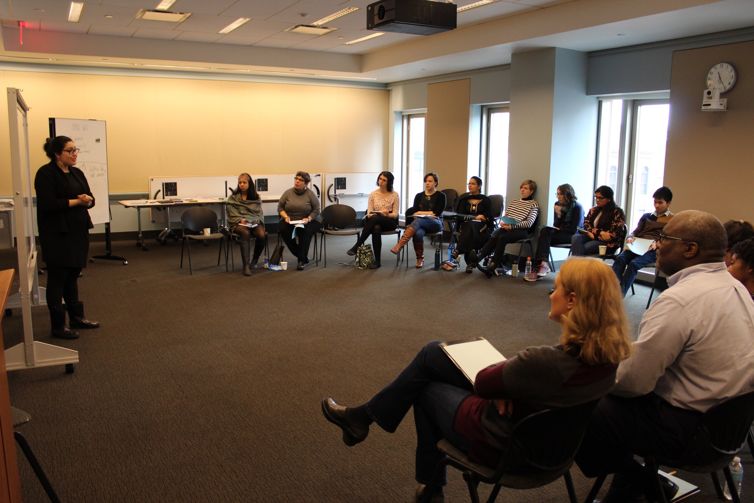 Faith Zone curriculum training at NYU