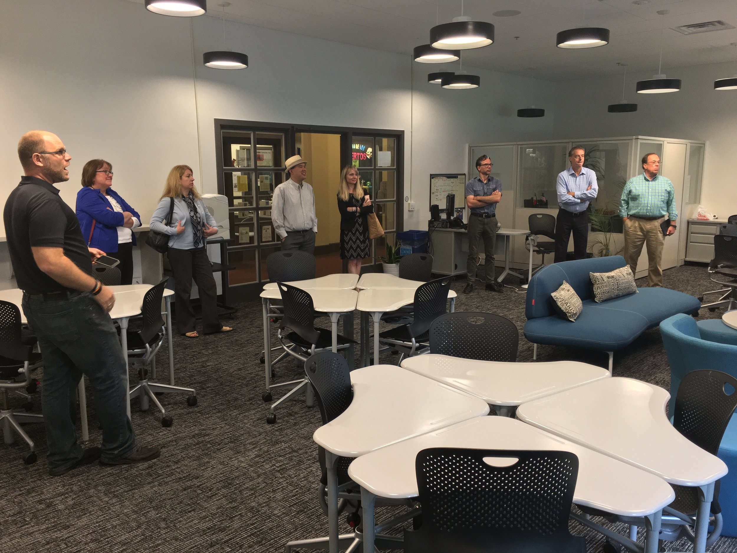 PCLA Chief Information Officers touring Muhlenberg College