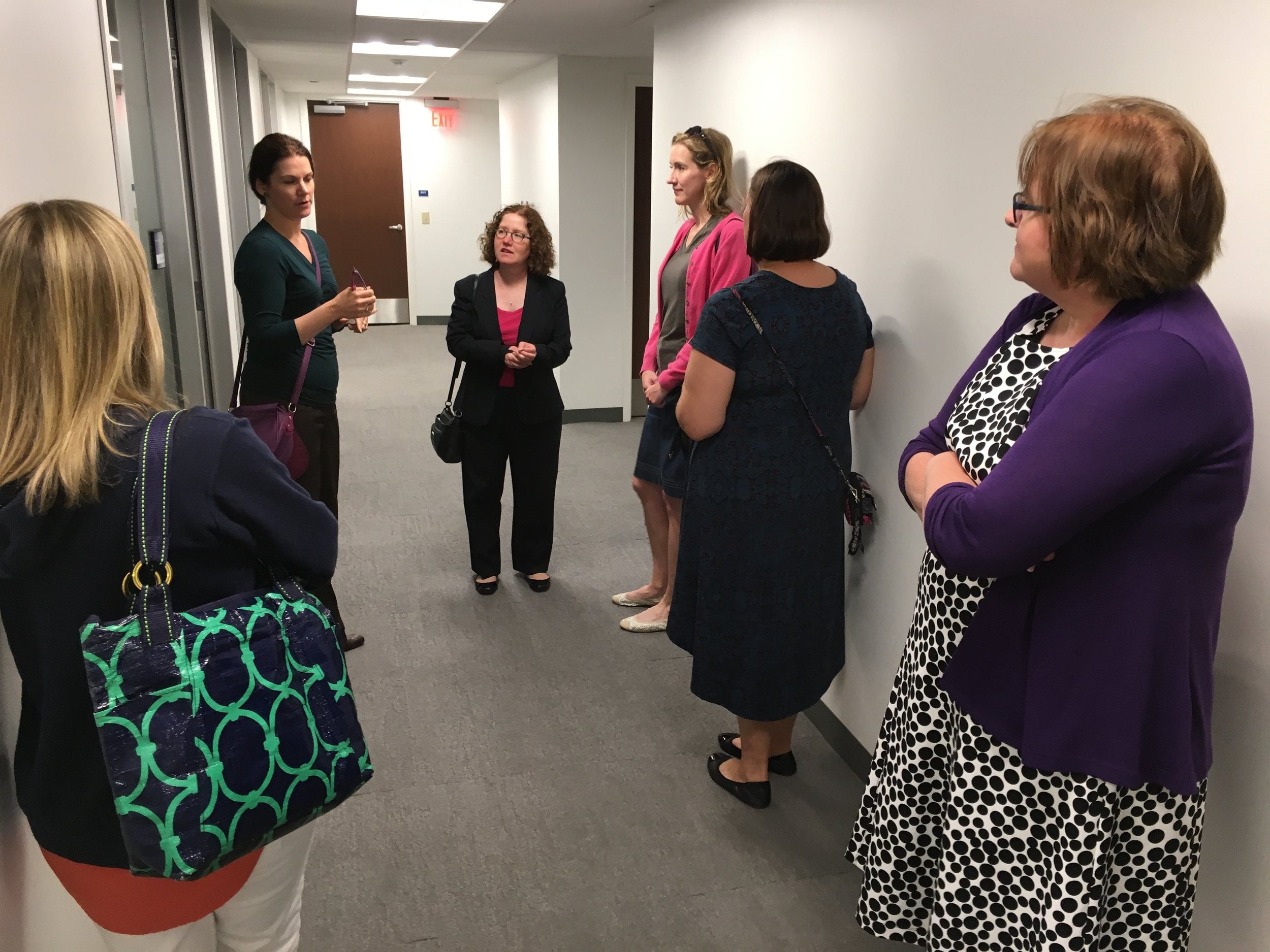 PCLA Alumni Career Advisers touring Franklin & Marshall College
