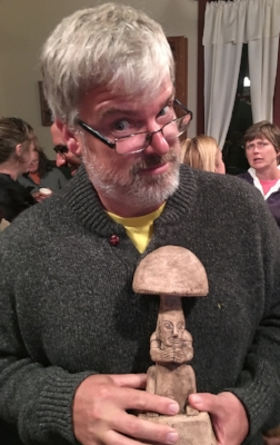 BB with Mayan mushroom stone TCotter.JPG