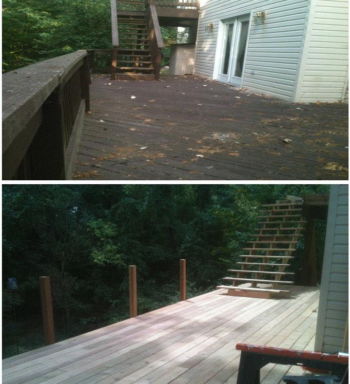 Deck Before & Progress Of New .jpg