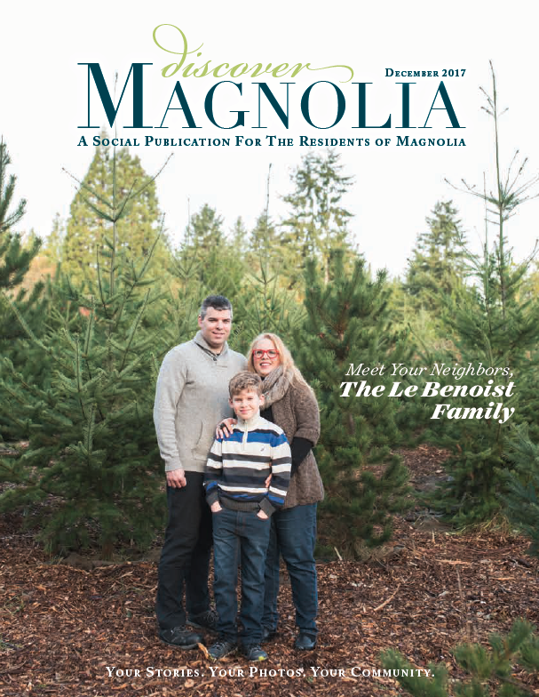 Cover picture of  Meet me in Magnolia Magazine  - December 2017