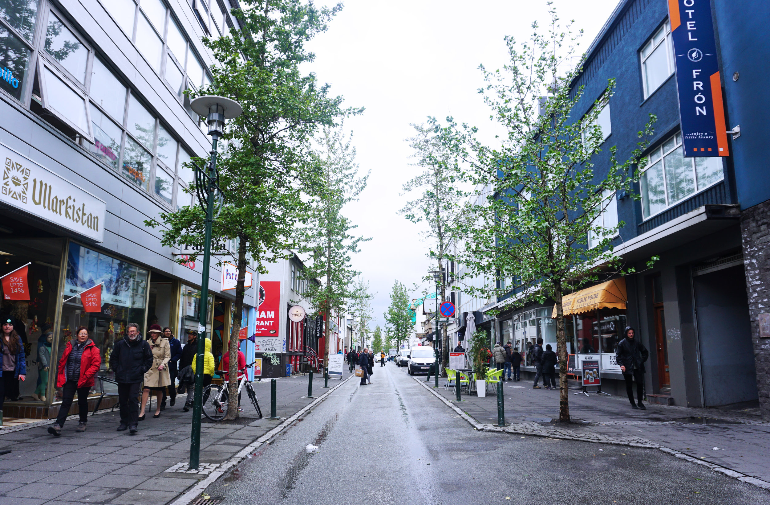 Laugavegur - is one of Reykjavik's main shopping streets where you can find everything from cute boutiques to kitschy tourist shops, and fine dining establishments to noodle shops (more on that later).