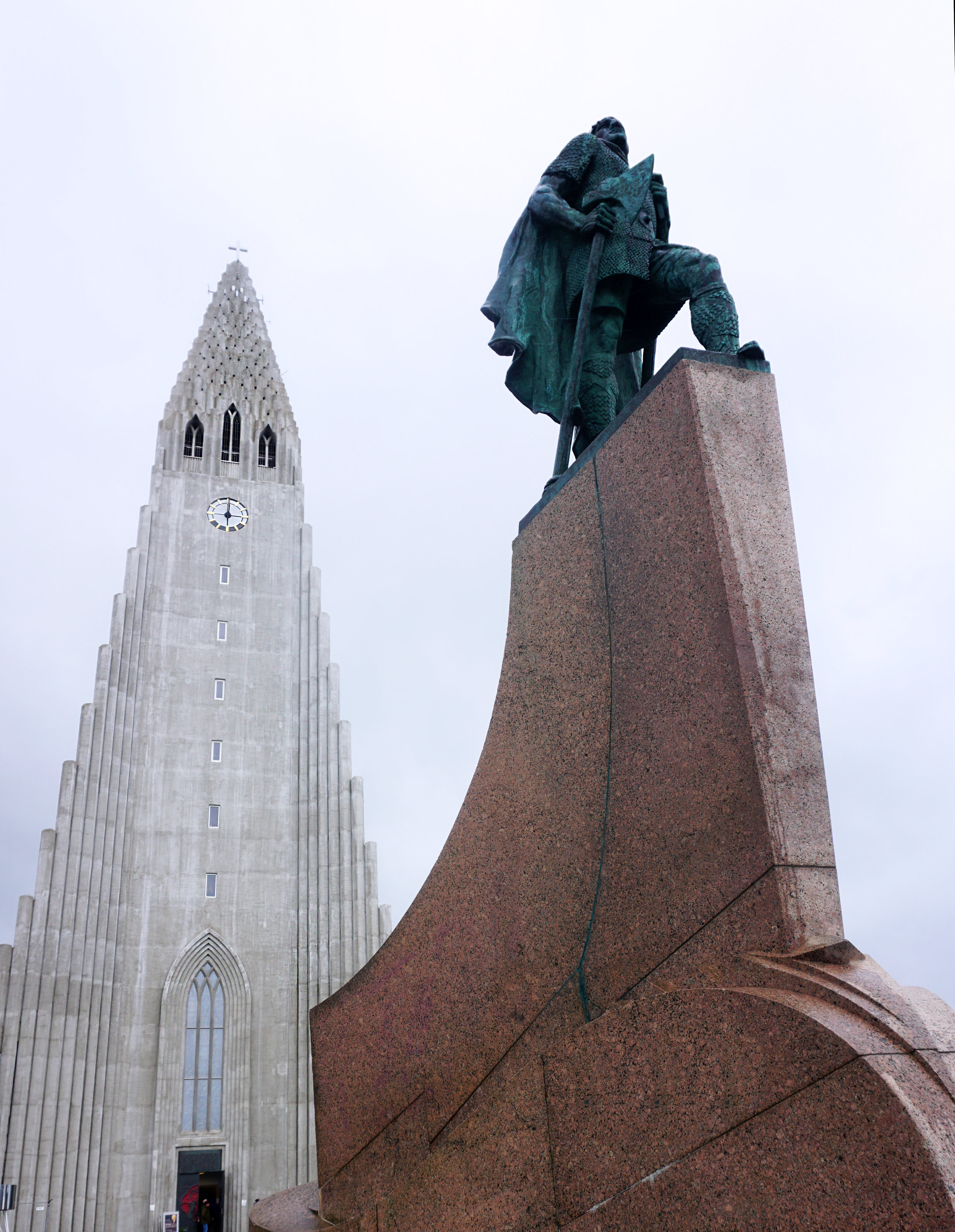 Hallgrímskirkja - is one of the tallest structures in Iceland and sits in the center of Reykjavik. Its design is meant to be inspired by Iceland's unique landscape.