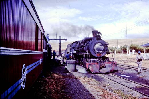 he meet at Estacion Capa provided a taste of the train the authors would ride in return the following day.