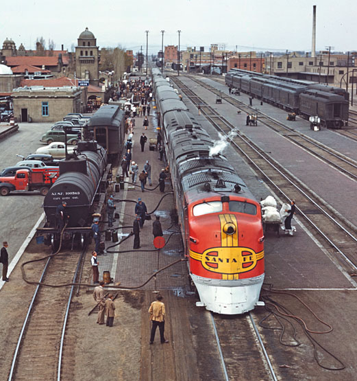 EMD E1s photographed by Jack Delano