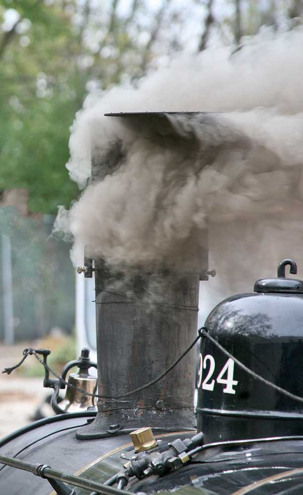 Firing up on coal, the locomotive had little difficulty making smoke.