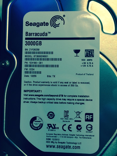 Seagate 3TB DM series drive (model ST3000DM001)