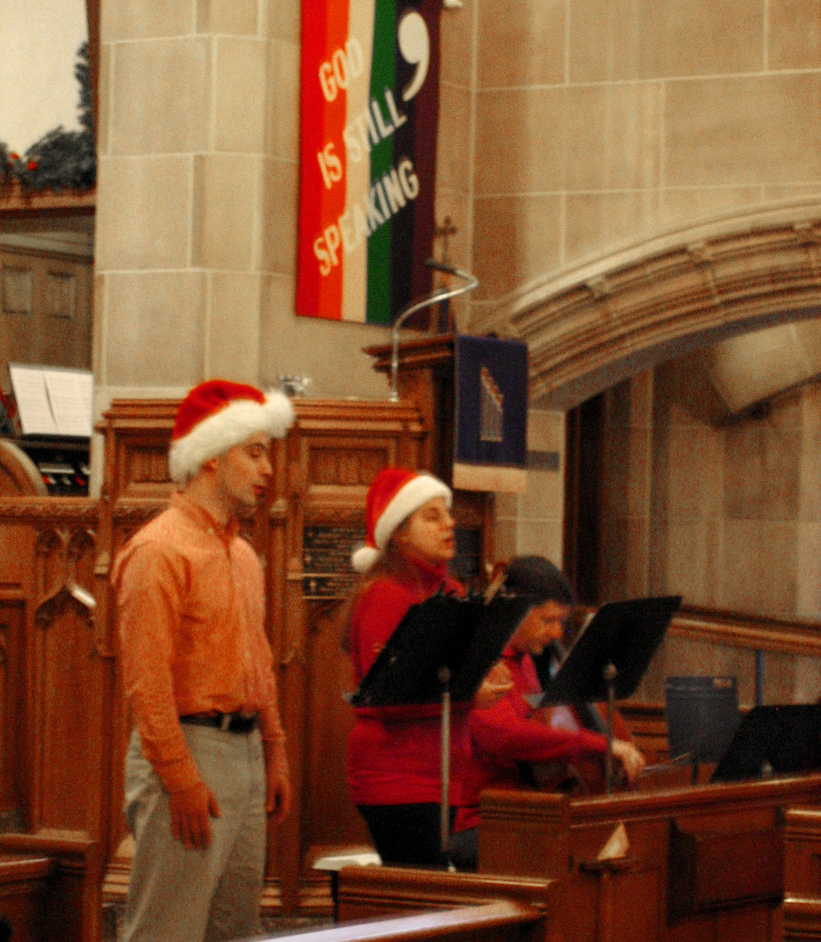 4.3 Vocal trio at pulpit.JPG
