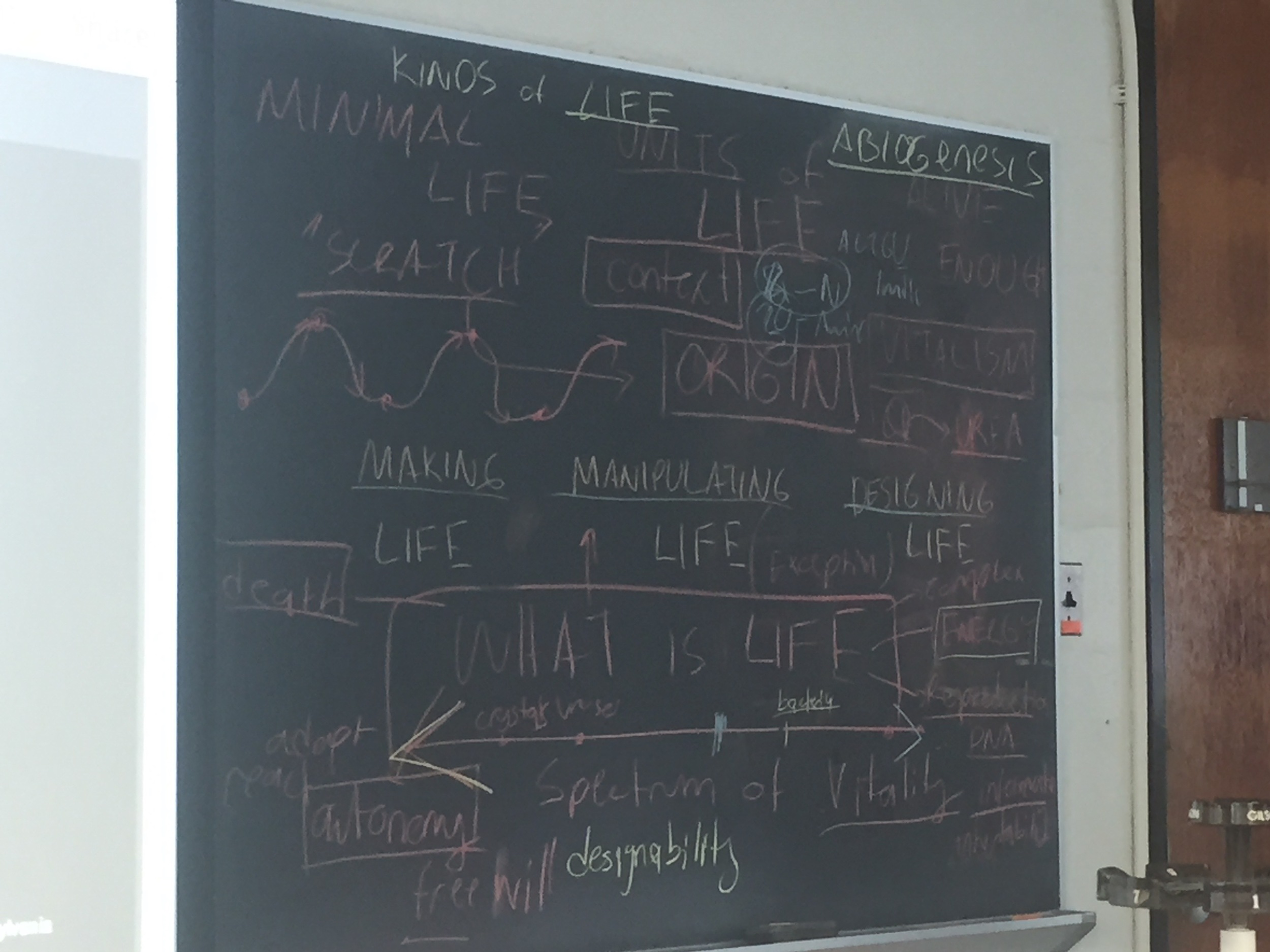 Theories of Life discussion board.