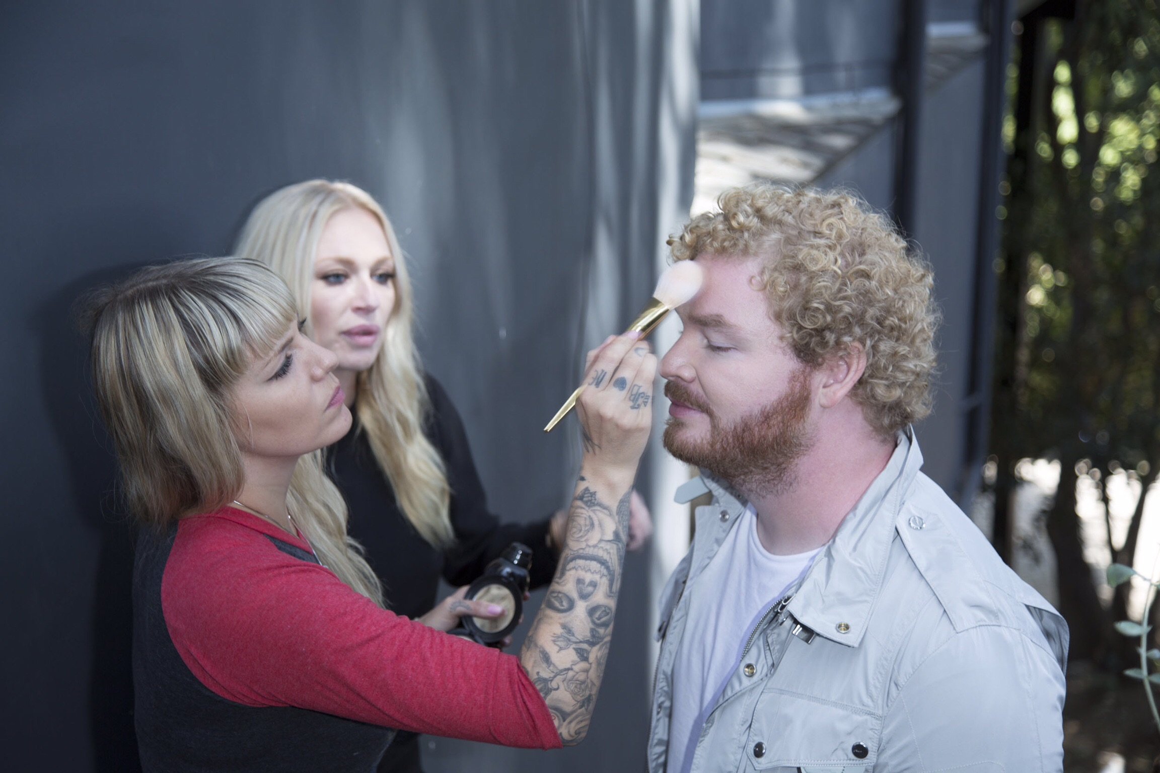Evan getting touch ups by Debbie G.