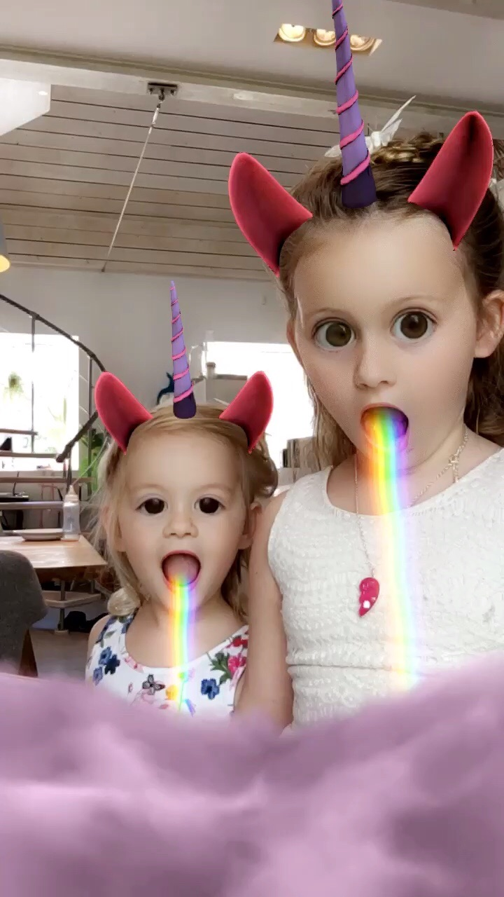 Monday Lily is having fun on my snapchat before.