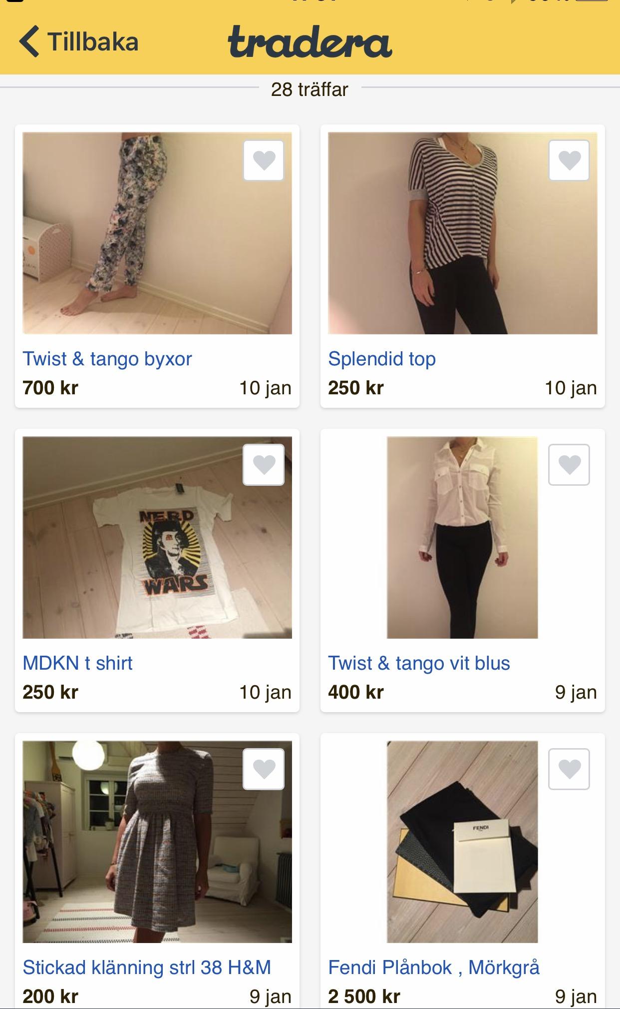 Shopen på Tradera.se