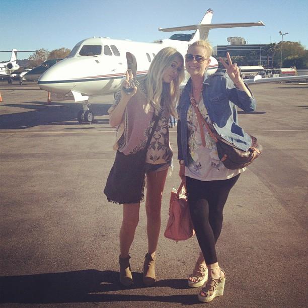 Me and Masha on our way to Coachella 2012