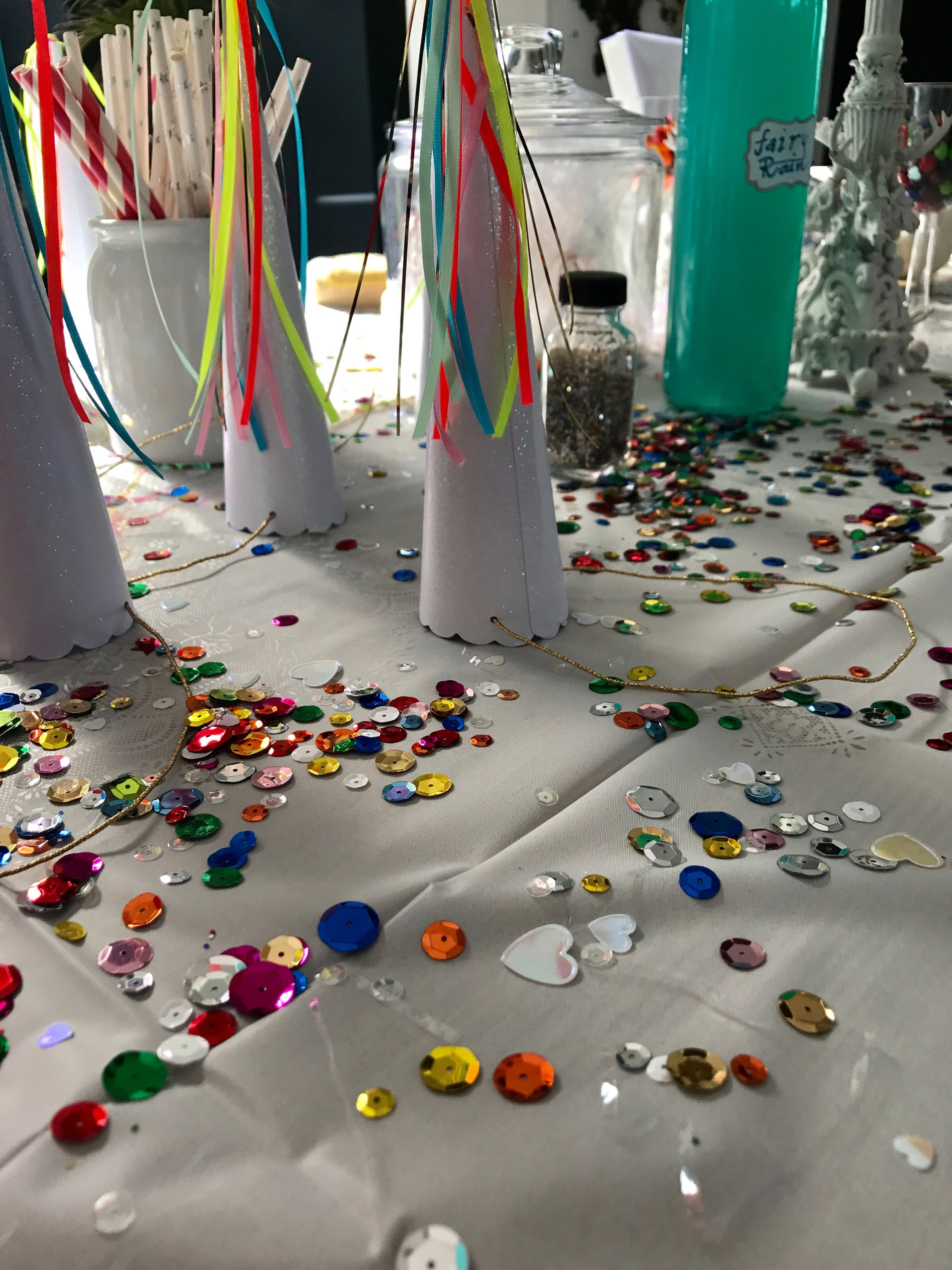 Vi hade pyntat hela huset i princip med glitter och paljetter.