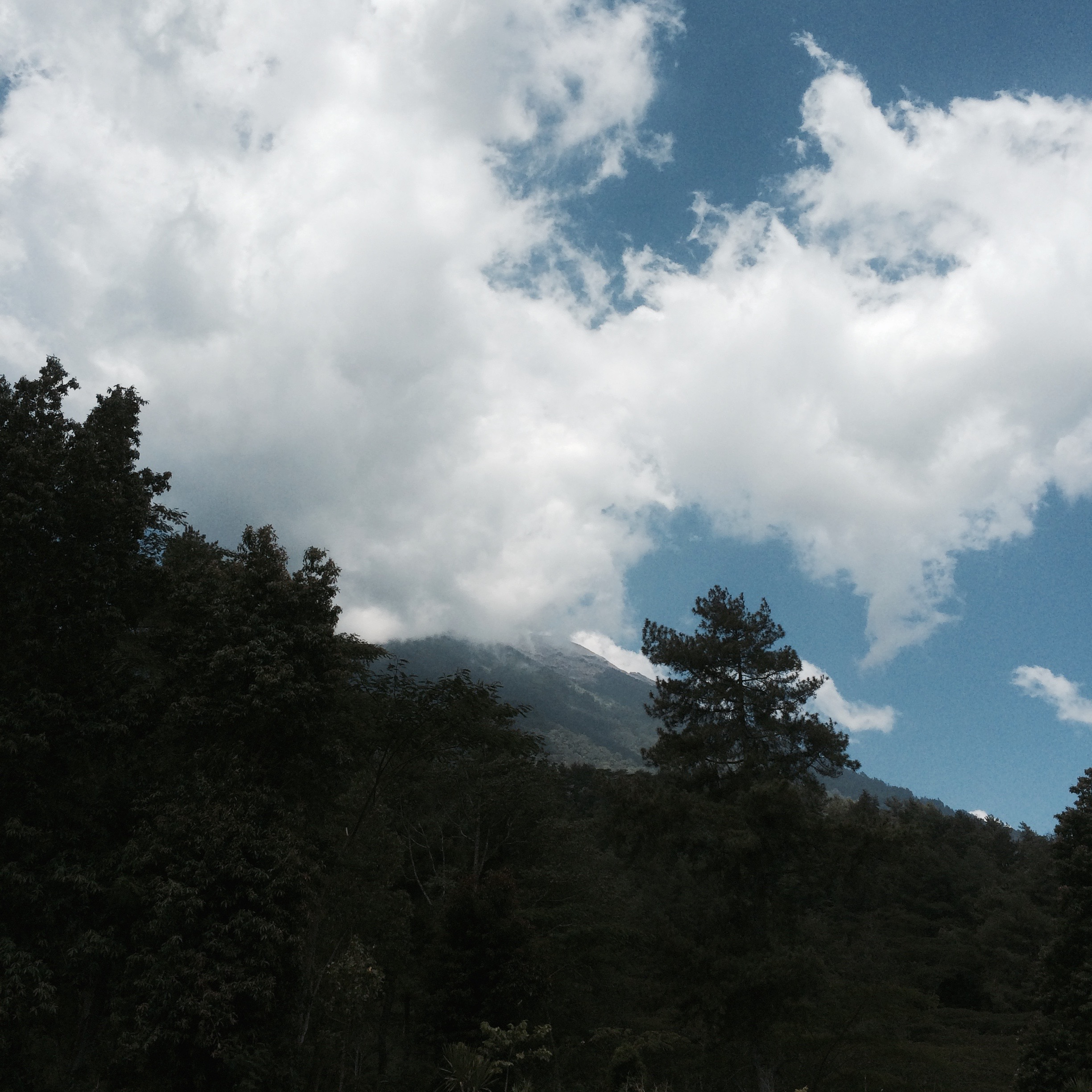 The view of Mt Agung from the Besakih Temple