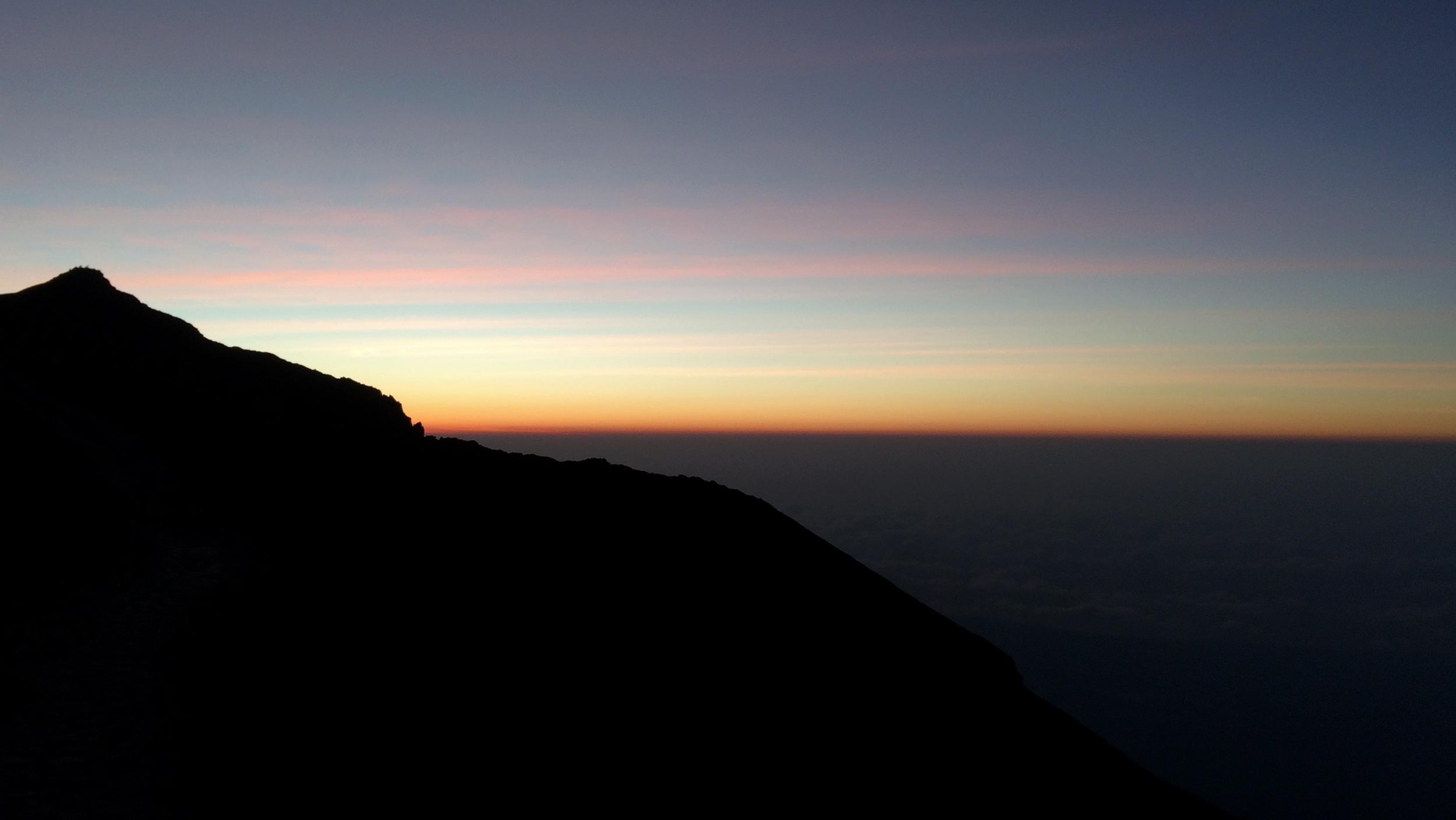 Mt Agung at dawn