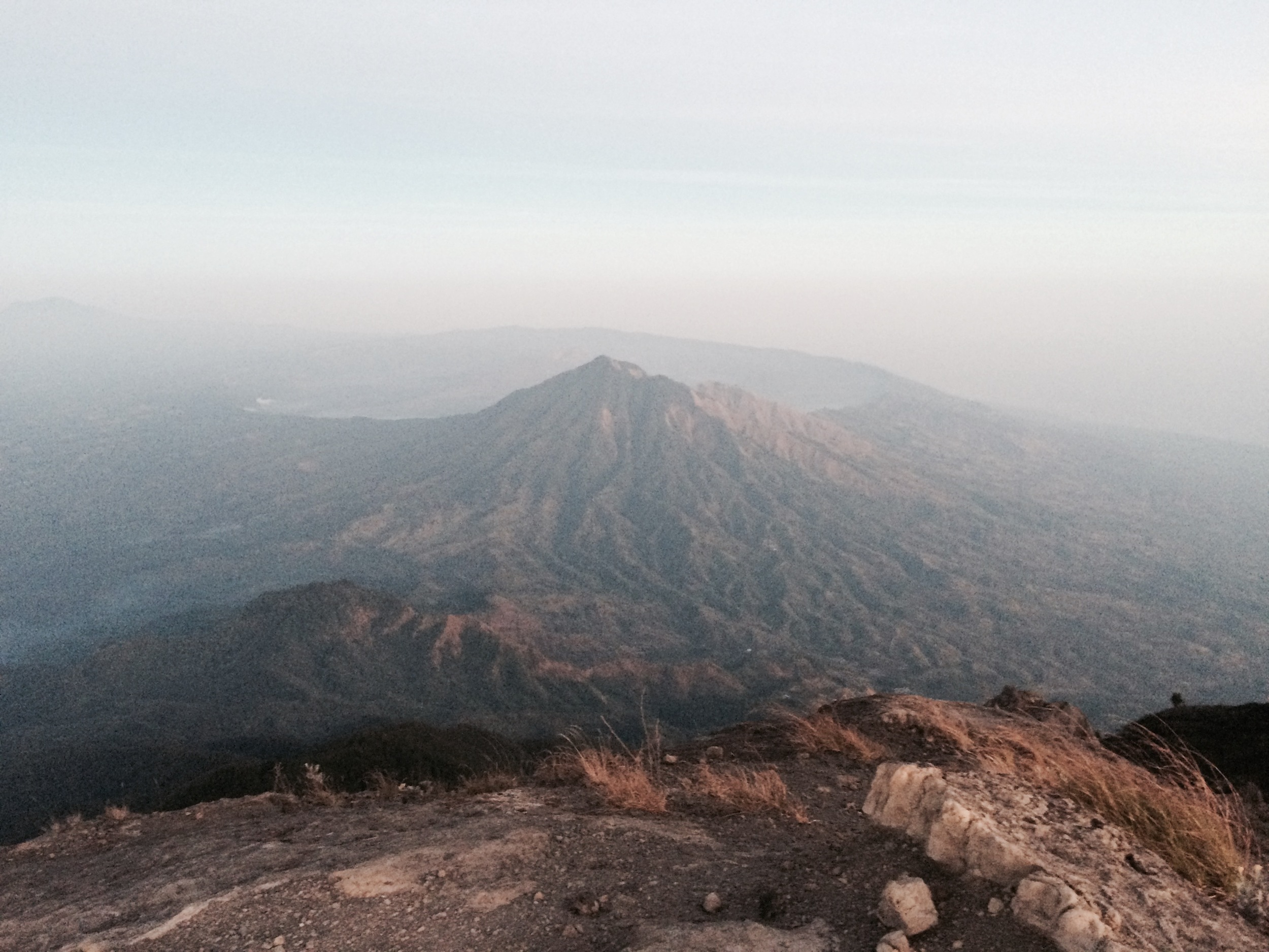 The view of Mt Abang from Mt Agung