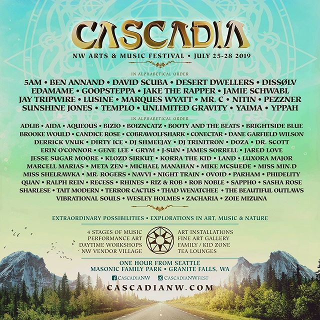 We're excited to announce that are returning to Washington to perform at @cascadianwfest!! We've been working on lots of new music and performance theatrics and we can't wait to debut the vibes with the Cascadia tribe! ⠀⠀ ⠀⠀ Who will we be seeing there?!⠀⠀ ⠀⠀ #dissolvyourmind