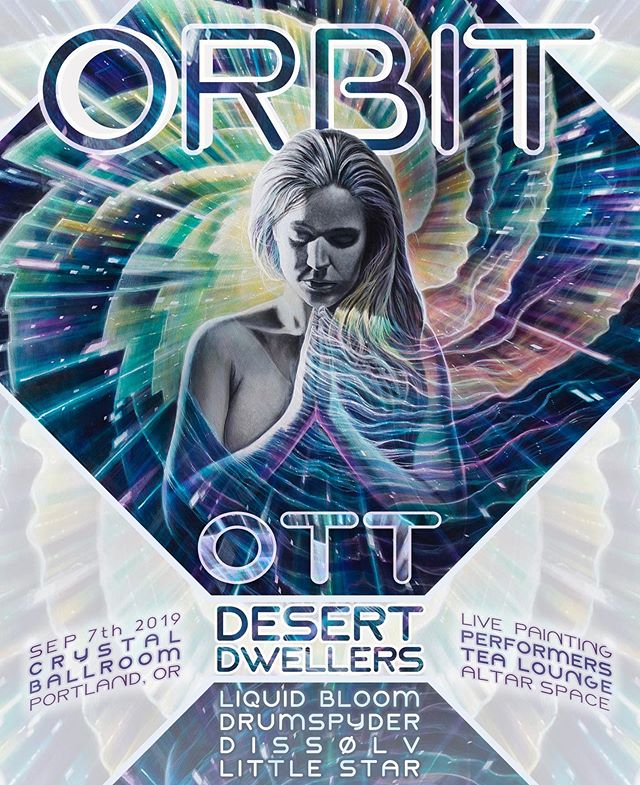 Hey Portland fam, we're coming back!! We're very pleased to announce we will be joining some of our favorite artists - @ottsonic @desert_dwellers_music @liquidbloom @drumspyder & more - for ORBIT on September 7th at the @crystalballroom!⁠⠀ ⠀ So much love to @livingprism for curating such a magical gathering and bringing us out to take part. We're so excited to share our newest music and live performances with you!⁠⠀ ⁠⠀ ~ Event Link in Bio ~