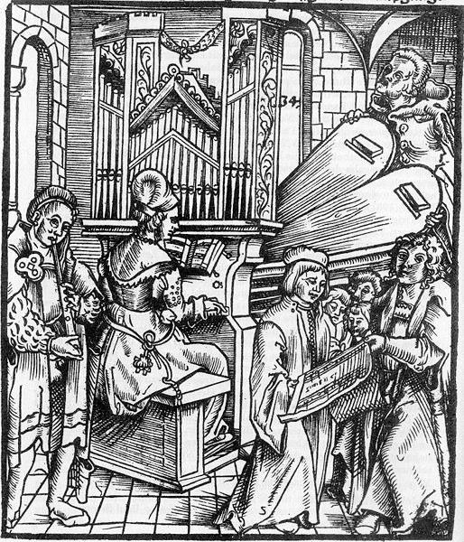 Arnold Schlick, Title Page from Spiegel der Orgelmacher und Organisten, 1511