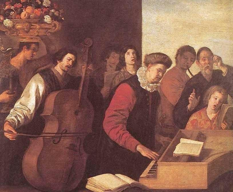 Aniello Falcone (1600-1665) Concerto - detail