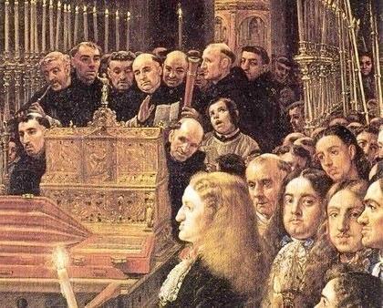 """Claudio Coello, """"Adoração da Sagrada Forma por Carlos II"""" - 1684"""