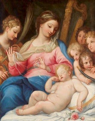 Carlo Maratta (Camerano 1625 - 1713 Roma) Madonna with child