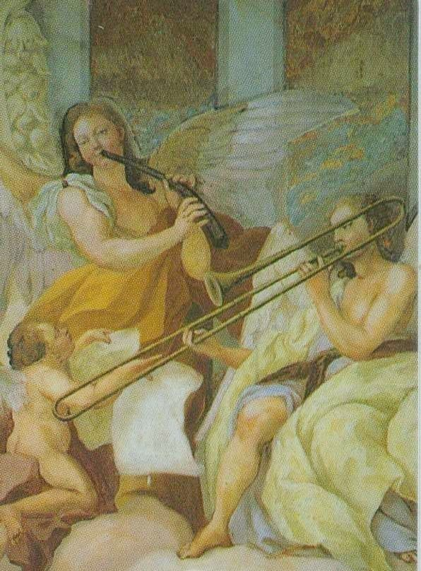 Fresco in the cupola of the Stiftskriche, Melk, Austria
