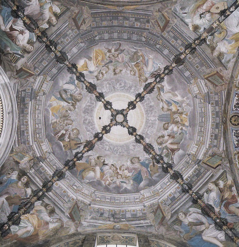 Fresco on cupola, 1617, by Bartolomeo Roverio.
