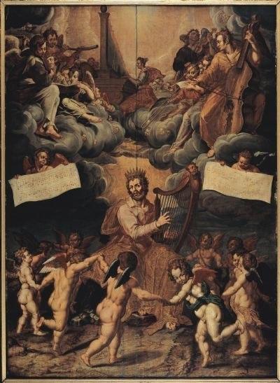 Pieter de Witte David Singing God's Praise c. 1575