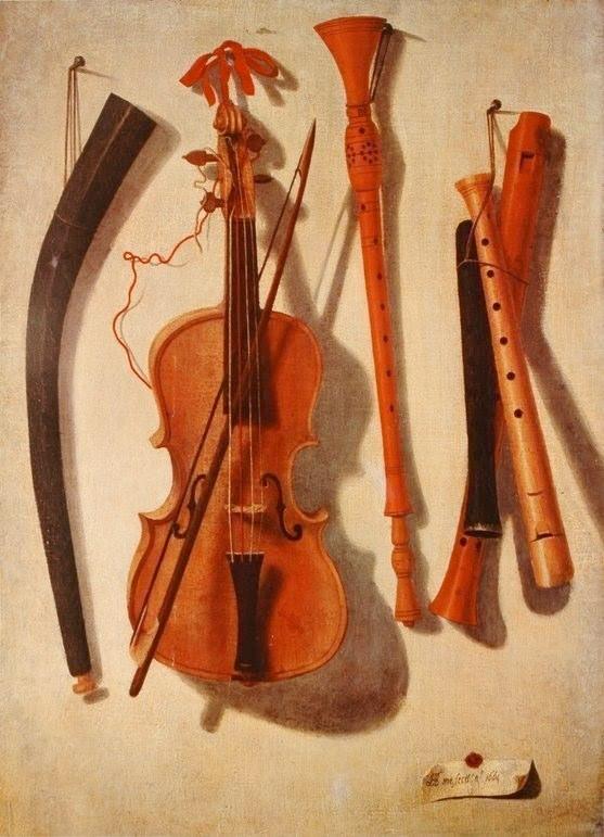 A trompe l'oeil painting in the Museu da Música in Lisbon.