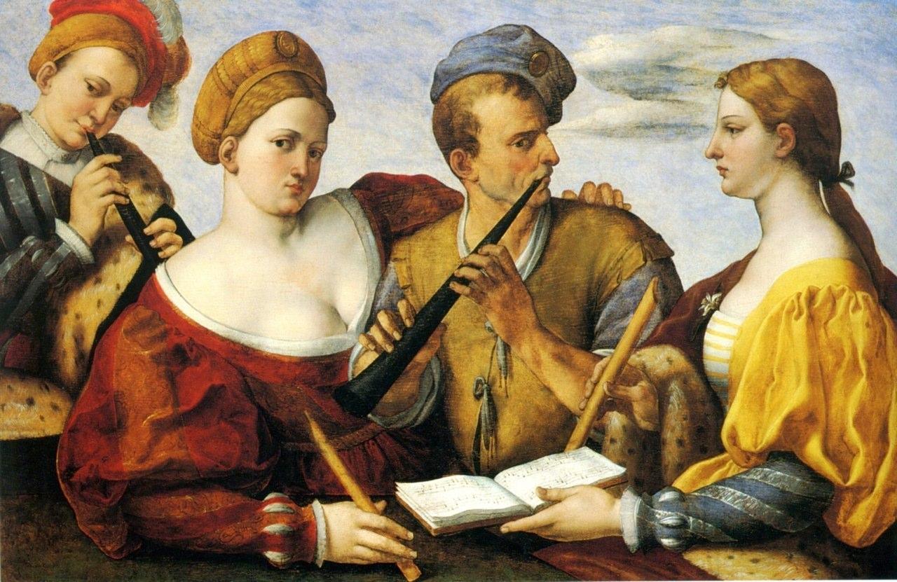 Concerto, (?1556), variously attributed to Bernardino Licinio da Pordenone (ca 1498 – a. 1565) and Giovanni Battista Moroni (1525-1578).