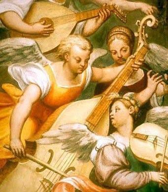 Pomponio Amalteo (1505-1588), Angeli musicanti, fresco in San Vito al Tagliamento, chiesa dei Battuti