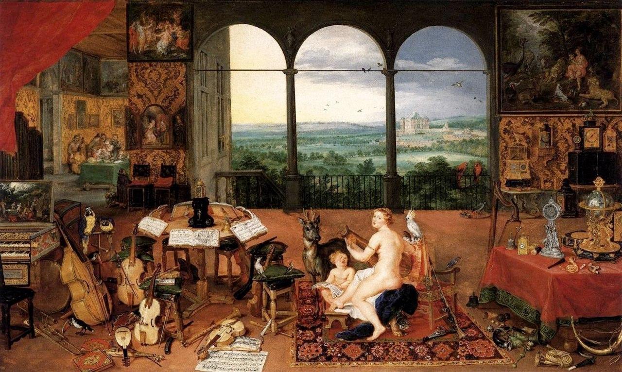 Jan Brueghel, The Sense of Hearing, 1617