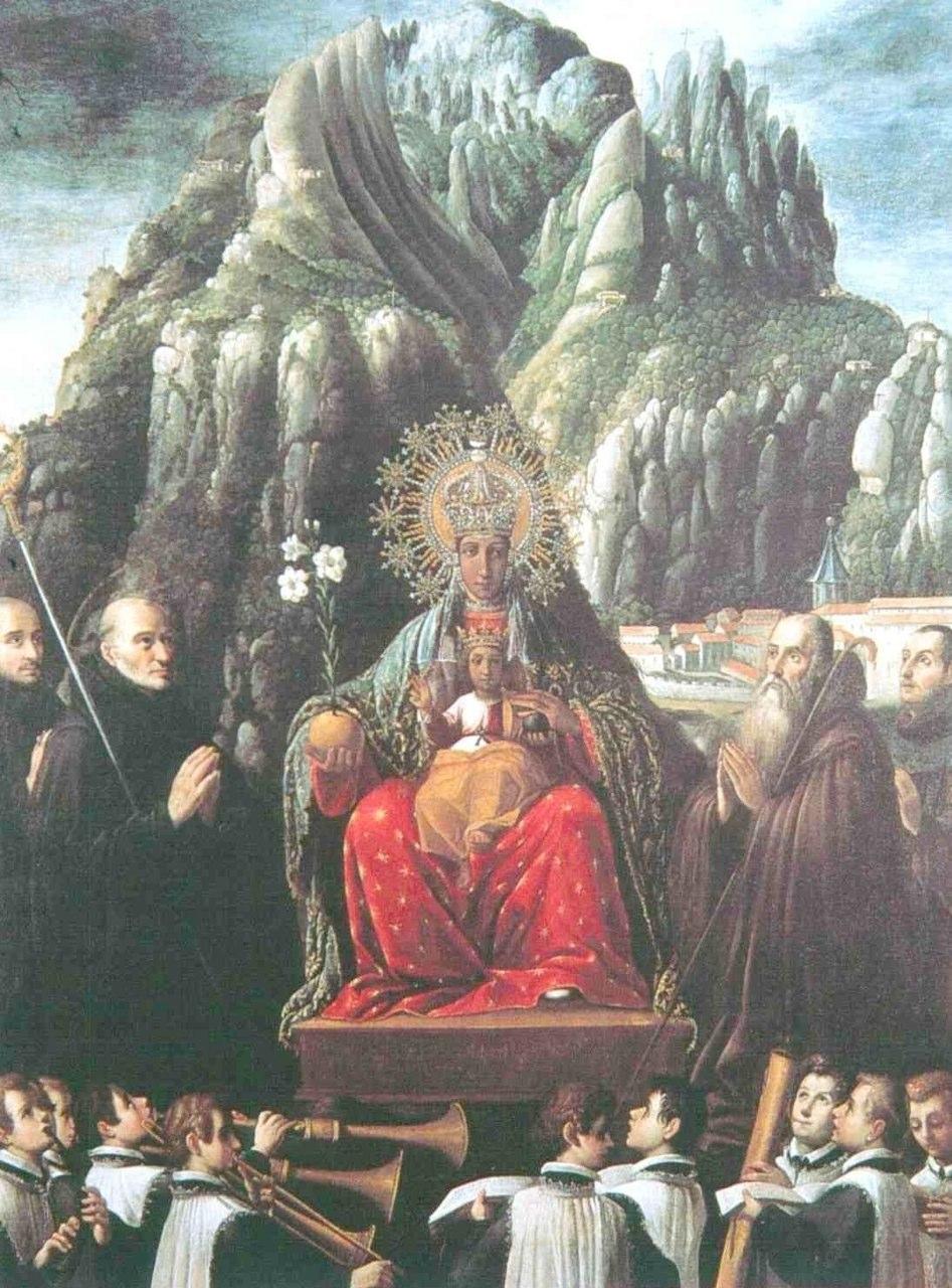 Juan Andres Ricci, The virgin of Montserrat, 1639