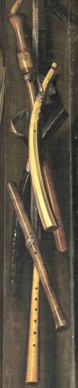 Detail, Decorated organ shutters (1658), Cornelis Brize (1622 -1670/1679+). Amsterdam: Oude Kerk, chancel organ.