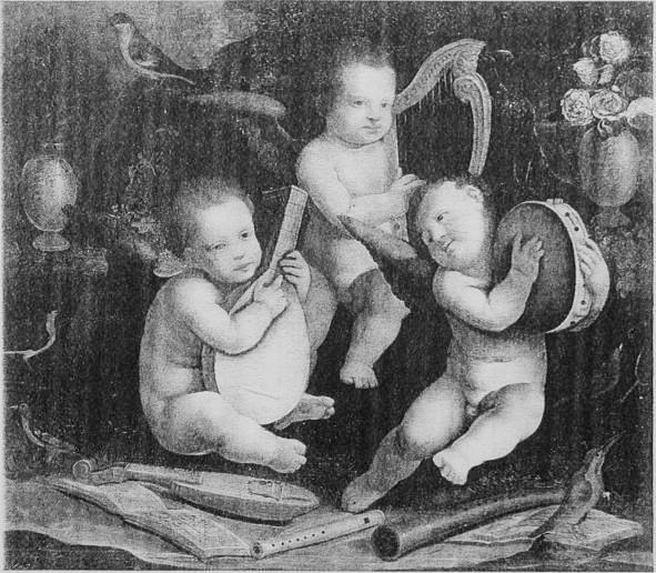 Musical Putti, Bernardino Lanino (1509-13 – p. 1581). Location unknown; Finarte Sale, Milano, 2 December 1993