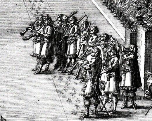 Coronation Louis XIV, Jean Le Pautre, 1654 Detail