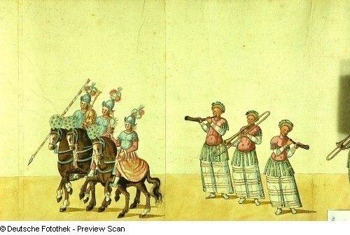 Aufzug Nr. 3 zu einem Turnier anläßlich der Taufe Herzog Augusts 21.09.1614.
