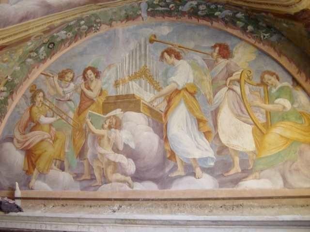 Fresco lunette in the church of Santa Maria della Neve in Cislago, Italy, ca. 1615.