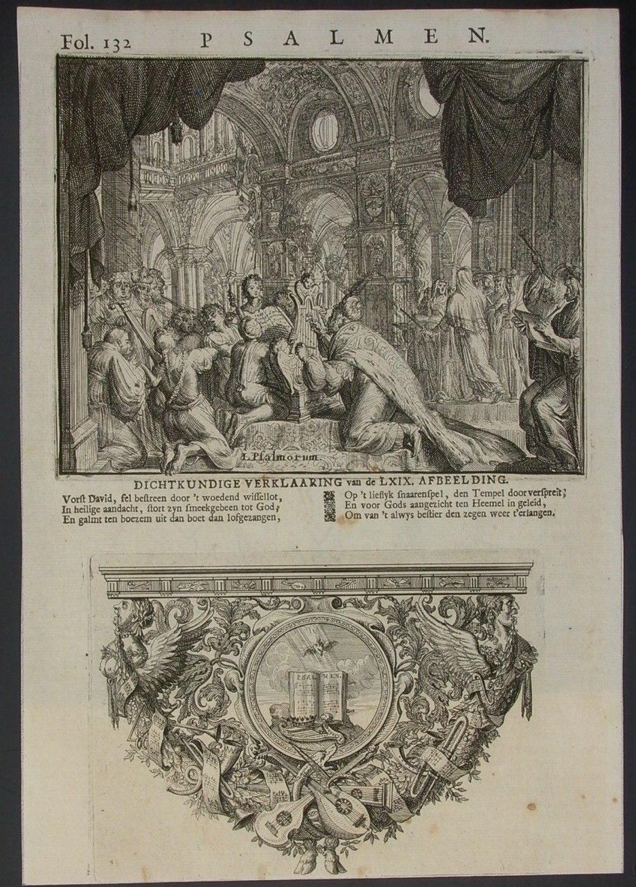 1707 Hooghe, Romeyn de, David, Psalmen uit T groot Waerelds