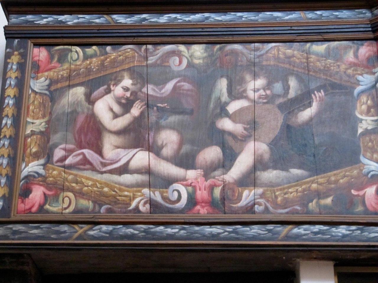 Romagnano Sesia, Chiesa della Madonna del Popolo, Painting on the cantoria of the organ by Tarquinio Grassi