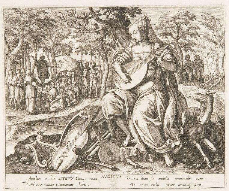 Gregor Fentzel (1640-1660), Der Gehörssinn. Braunschweig, Herzog Anton Ulrich-Museum.