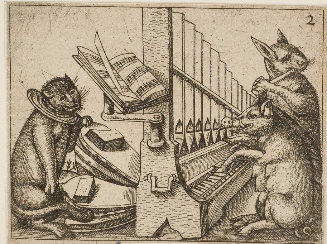 Gottfried Müller (1620-1658), Musizierende Tiere, Braunschweig, Herzog Anton Ulrich-Museum.