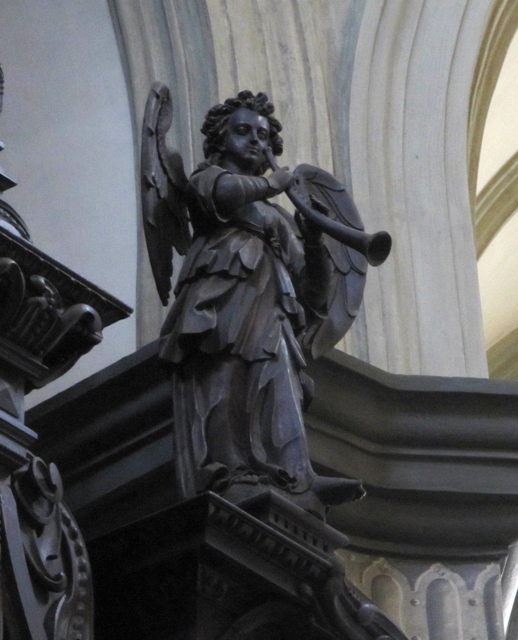 Cornetto-playing organ (right side) on the Wöckherl organ, Vienna, Franziskanerkirche.
