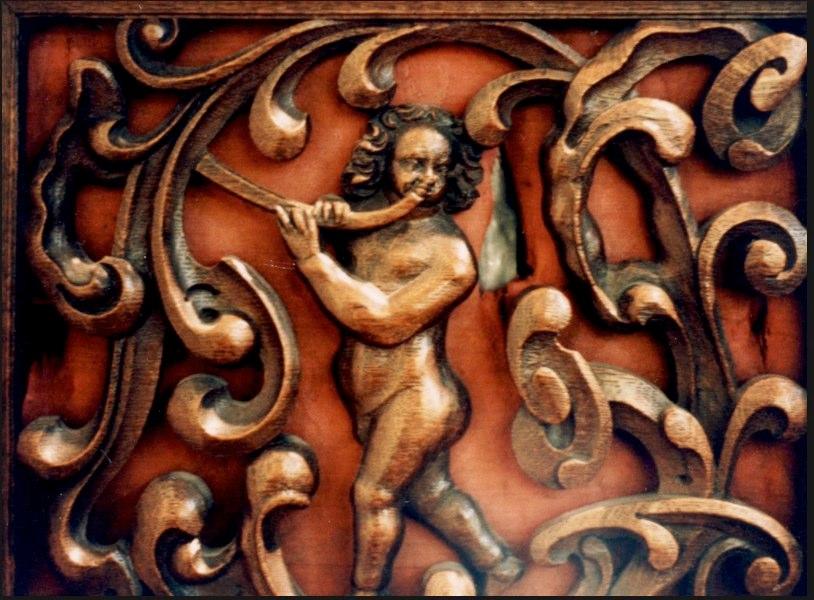Hague Gemeentemuseum, decoration on an organ case.